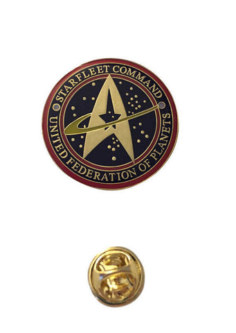 Star Trek Starfleet Command Original Series Cosplay Logo Metal Pin