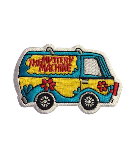 "Scooby Doo The Mystery Machine Van Colorful 3.25"" Wide Embroidered Iron On Patch"