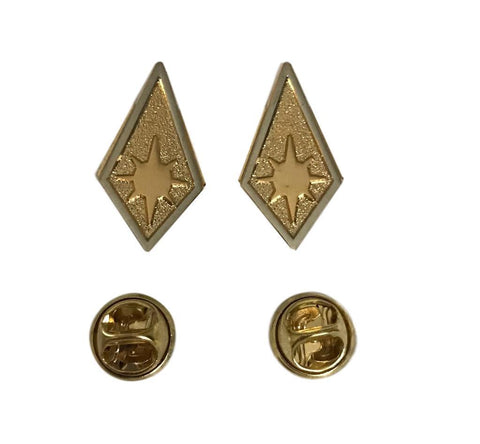 Battlestar Galactica BSG Lieutenant Colonel Metal Collar Rank Pips 1 Pair Pins