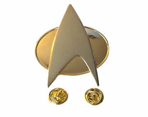 Star Trek The Next Generation Full Size Communicator Metal Pin Licensed 1980's
