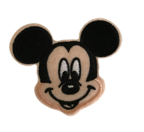 Mickey Mouse Head Pose Cosplay Felt Embroidered Iron On Patch