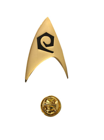 Star Trek Engineering Logo Classic Original Series Scotty Metal Gold Pin
