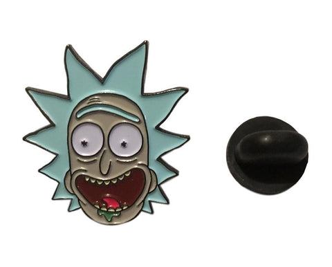 Rick and Morty - Rick Character Enamel Filled Metal Lapel Pin