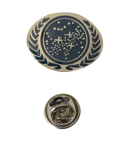 Star Trek TNG United Federation of Planets UFP Logo Oval Enamel Metal Pin
