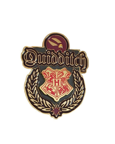 Harry Potter Hogwarts Quidditch Team Seal Logo Metal Cosplay Pin