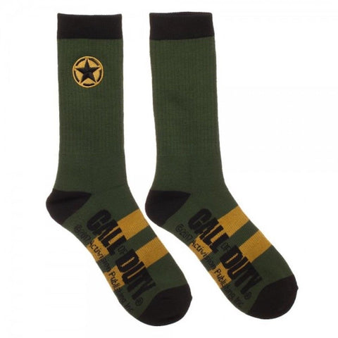 Call of Duty Logo Star Adult Size Cosplay Crew Socks