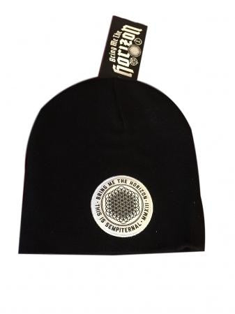 Bring Me The Horizon Band Patch Logo Black Knit Beanie