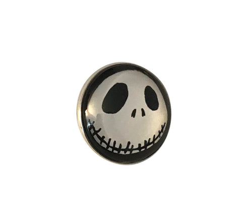 Nightmare Before Christmas Jack Skellington Glass Dome Metal Pin