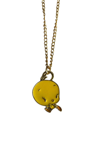 Tweety Bird Baby Face Pendant Chain Necklace