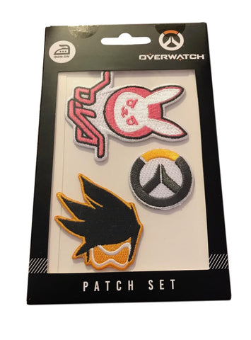 Overwatch Gaming Iron On Patch Set of 3 Embroidered Patches