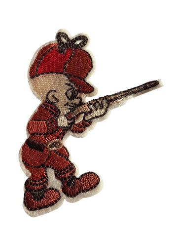 Elmer Fudd Cartoon Cosplay Novelty Embroidered  Iron On Patch
