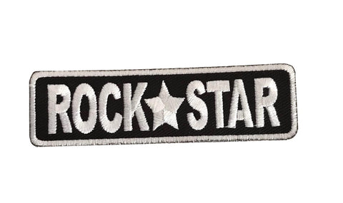 Rock Star Steampunk Novelty Biker Embroidered Iron On Patch