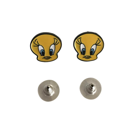 Tweety Bird Looney Tunes Novelty Enamel Metal Stud Earrings
