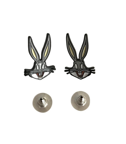 Bugs Bunny Looney Tunes Novelty Enamel Metal Stud Earrings