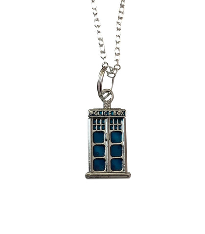 Doctor Who Tardis Call Box Pendant Chain Necklace