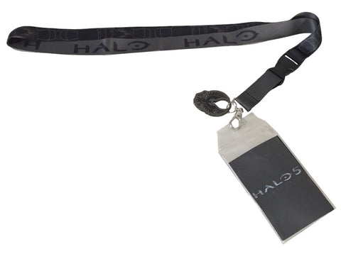 Halo 5 Logo Lanyard Keychain ID Holder With Metal Charm Microsoft