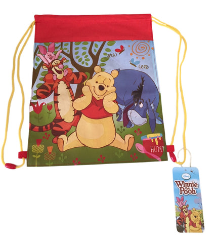 Winnie The Pooh Tigger Eyore and Piglet Too Woven Cinch Bag Slingback Back Pack