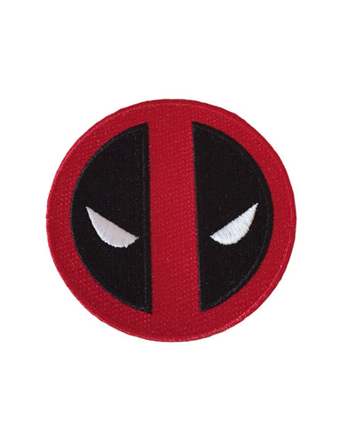 Deadpool Big Face Mask Icon Embroidered Iron On Patch Marvel Comics