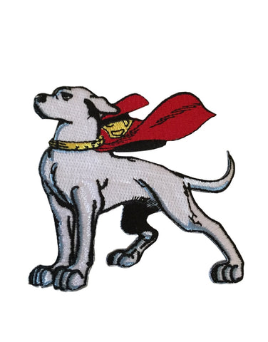 Superman Krypto Super Dog Embroidered Iron On Patch DC Comics