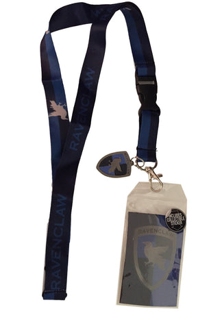 Harry Potter Ravenclaw D/S Lanyard Keychain ID Badge Holder With Metal Charm