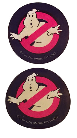 Ghostbusters Columbia Pictures Promo Vintage Stickers from 1984 Set of 2