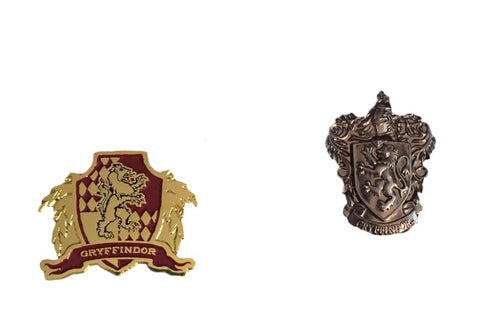Harry Potter Gryffindor House Crest Set of 2 Lapel Enamel and Pewter Pins
