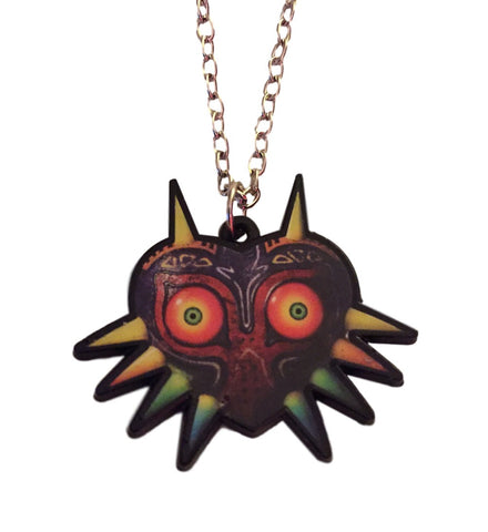 Zelda Majora's Mask Enamel Metal Pendant Chain Necklace Nintendo