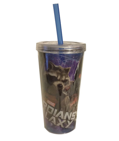 Marvel Guardians Of The Galaxy 16 Oz Twist Top Cold Cup Travel Mug With Straw