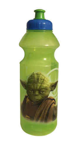 Disney Star Wars Yoda Jedi Master Green BPA Free Plastic Water Bottle Pop Up Sip