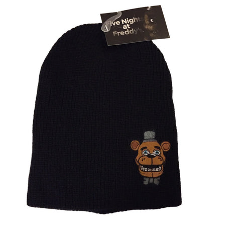 Five Nights At Freddy's Patch Freddy Head Embroidered Slouch Beanie Knit Hat