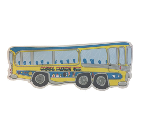 The Beatles Magical Mystery Tour Bus Automobile Magnet
