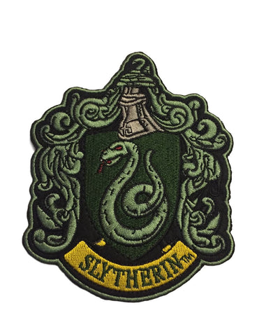 Harry Potter House of Slytherin Crest Large Logo Embroidered Iron On Patch