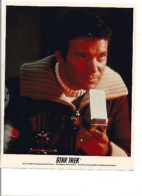 CAPTAIN KIRK COMMUNICATOR STAR TREK 1991 PHOTO SHATNER