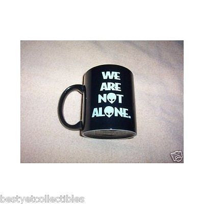 Aliens We Are Not Alone UFO Space Transforming Logo and Face Coffee Mug