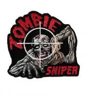 Zombie Sniper Mid Size 4 Inch Embroidered Iron On Patch Walking Dead