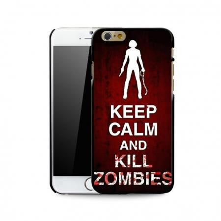 Keep Calm and Kill Zombies Hardshell Snap on Case iPhone 6 4 7 Inch
