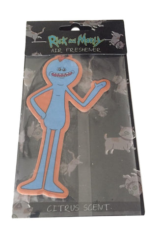 Rick And Morty Mr. Meeseeks Car Truck Office Air Freshener   Citrus Scent