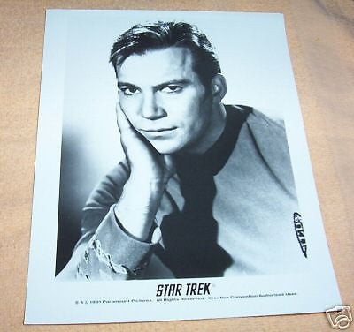 CAPTAIN KIRK B& W ORIGINAL SERIES PHOTO WILLIAM SHATNER