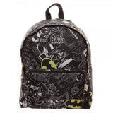 DC Batman All Over Print Comic Drawings with Shield Lightweight Full Size Packable to Smaller Size