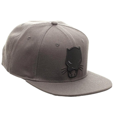 8110e3c5220a7 ... Black Panther Embroidered Mask Symbol Flat Brim Baseball Cap Snapback  Hat ...