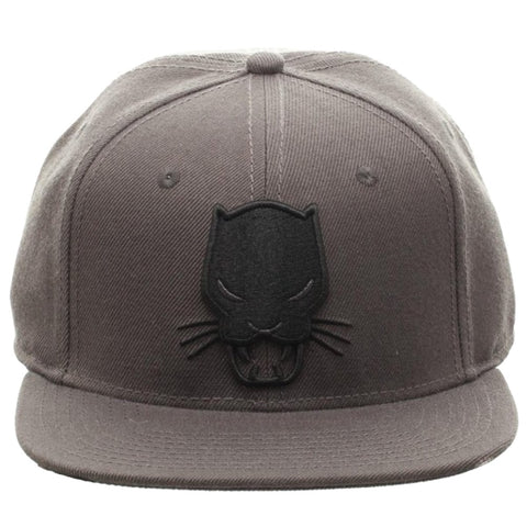 Black Panther Embroidered Mask Symbol Flat Brim Baseball Cap Snapback Hat