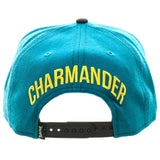 Pokemon Charmander Patch Character Baseball Cap Snapback Flat Brim Hat