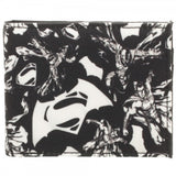 Batman Vs Superman Dawn of Justice B&W Bi-Fold Wallet DC Comics