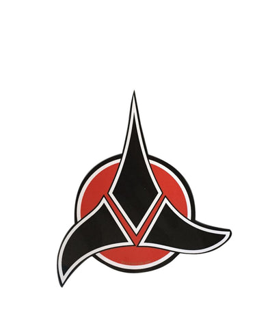 Star Trek Klingon Red and Black Symbol Logo 4 Inch Peel and Stick Decal Sticker