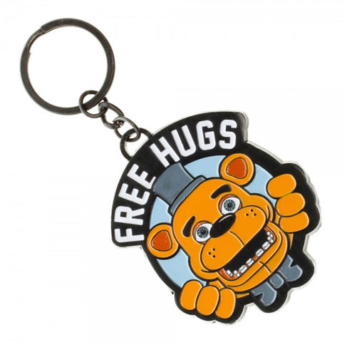 Five Nights At Freddy's Freddy Fazbear Free Hugs Enamel Metal Keychain Key Ring