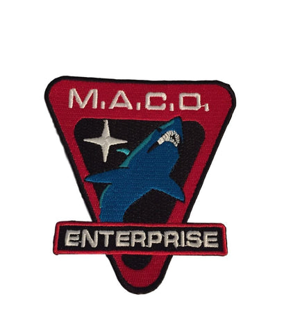 Star Trek Enterprise M.A.C.O. Commandos Shark Logo Embroidered Iron On Patch