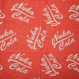 Fallout Nuka Cola Logo Red Infinity Soft Polyester Scarf NWT