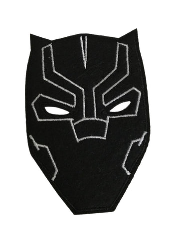 Black Panther Mask Cosplay Iron On Embroidered Patch