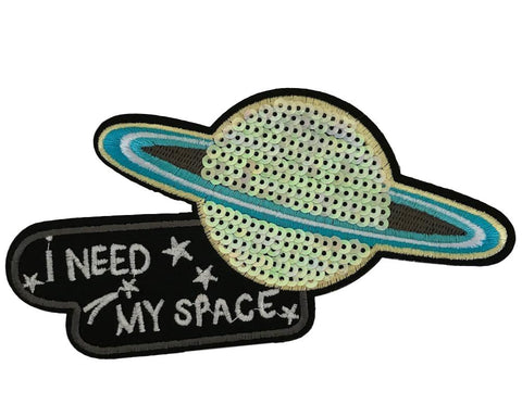 I Need My Space Novelty Cosplay Costume Iron On Patch