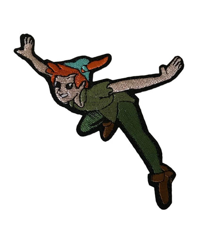 Peter Pan Flying Cartoon Cosplay Iron On Embroidered Patch